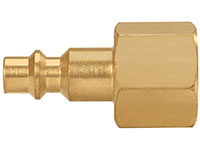 1.50 Inch (in) Length Brass 1/4 Inch (in) Body AM or AMA Socket Quick Connect Plug