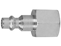 1.50 Inch (in) Length Plated Steel 1/4 Inch (in) Body AM or AMA Socket Quick Connect Plug