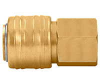 0.94 Inch (in) Length Brass 1/4 Inch (in) Body Size Quick Connect Automotive Socket