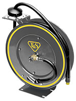 35 Feet (ft) Length Open Spring-Driven Medium Pressure Hose Reel