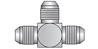 1/4 Inch (in) T1 (UNF), 1/4 Inch (in) T2 (UNF), and 1/4 Inch (in) T3 (UNF) Carbon Steel JIC Male Adapter Union