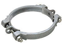 6 16/32 x 7 18/32 Inch (in) Hose Outer Diameter Zinc Plated Iron Double Bolt USA Sized Hose Clamp