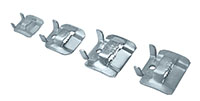 3/8 Inch (in) Width Galvanized Steel Clamp Buckle