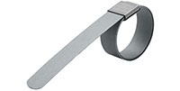"1 1/2 Inch (in) Diameter High-Carbon Galvanized Standard Heavy Duty Bands ""F"" Series Preformed Clamp"