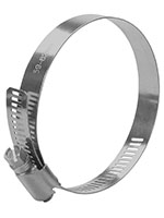 1/2 Inch (in) Band Width 2 5/16 x 3 1/4 Inch (in) Size 304 Stainless Steel General Purpose Industrial Hose Clamp