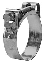 MIKALOR 55 to 59 Inch (in) Size 304 Stainless Steel One Bolt Hose Clamp