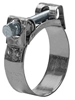 MIKALOR 55 to 59 Inch (in) Size Zinc Plated Carbon Steel One Bolt Hose Clamp