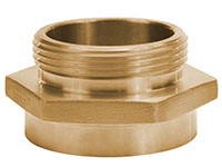 2 1/2 Inch (in) FNST x 2 1/2 Inch (in) MNST Brass Female x Male Hex Nipple Adapter Fitting