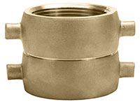 1 1/2 Inch (in) FNPT x 1 1/2 Inch (in) FNPSH Brass Double Female Swivel Adapter Fitting