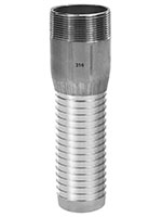 1 1/4 Inch (in) Size 316 Stainless Steel Long Shank Combination Nipple
