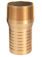 3 Inch (in) Size Brass Male NPT Combination Nipple Fitting