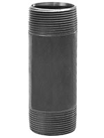 1/2 Inch (in) Size Close Length Black Steel Threaded Nipple