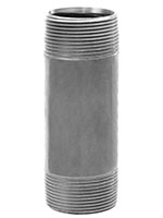 Close Length 316 Stainless Steel 1/2 Inch (in) Size Threaded Nipple