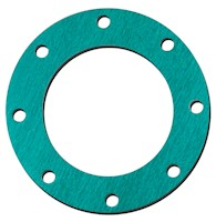 1 Inch (in) Size Green Non-Asbestos Flange Gasket
