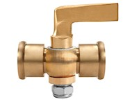 1/8 Inch (in) Size Polished Brass 41 Series Lever Handle Double Female Cock Valve