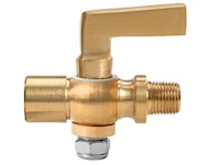 1/8 Inch (in) Size Polished Brass 41 Series Lever Handle Female x Male Cock Valve