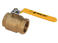 1/4 Inch (in) Size Brass Full Bore 2 Piece Ball Valve