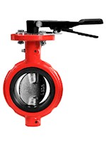 6 Inch (in) Size Ductile Iron and 316SS Disc Butterfly Valve with Notched Body and Short Neck