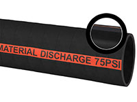4.79 Inch (in) Outer Diameter and 75 PSI Pressure Black Blended Rubber Dry Cement Discharge Hose