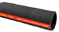 2 Inch (in) Inner Diameter and 150 PSI Pressure Black, Synthetic Acrylic Rubber Hot Tar Hose