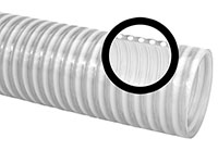 2 Inch (in) Inner Diameter Clear PVC Suction Thermoplastic Hose