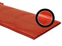 Red PVC Sidewinder Medium Duty Lay Flat Discharge Thermoplastic Hose