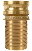 Brass Type E Male Coupler x Crimp Shank Cam and Groove Couplings (E 300BRC)
