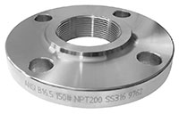 2 Inch (in) Pipe Size 316 Stainless Steel NPT Threaded Raised Face ANSI B16.5 Forged 150 Flange