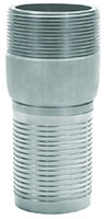 3 Inch (in) Size Zinc Plated Steel NPT Threaded Crimp Combination Nipple