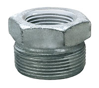 1 Inch (in) Size Plated Iron Ground Joint Female Spud