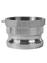 3 Inch (in) Size 316 Stainless Steel Type A Female BSP x Male Adapter Cam and Groove Coupling