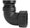 2 Inch (in) Size Polypropylene Type A Male Adapter x Female NPT 90 Degree Elbow Cam and Groove Coupling - 2