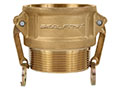 3 Inch (in) Size Brass Type B Female NPT X Male NPT Cam and Groove Coupling