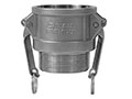 3 Inch (in) Size 304 Stainless Steel Type B Female NPT x Male NPT Cam and Groove Coupling