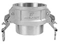 3 Inch (in) Size Aluminum Type B Female Coupler x Male NPT Self-Locking Cam and Groove Coupling