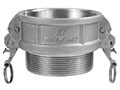 3 Inch (in) Size 316 Stainless Steel Type B Female Coupler x Male NPT Self-Locking Cam and Groove Coupling