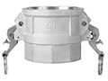 3 Inch (in) Size Aluminum Type D Female Coupler x Female NPT Self-Locking Cam and Groove Coupling