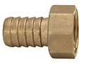 3/8 x 3/4 Inch (in) Size Brass Short Shank Female NPSH Hose Nipple