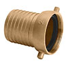 3 Inch (in) Size Brass Female NPSH Threads Shank Coupling