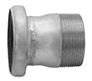 3 Inch (in) Size Zinc Plated Steel Male Threaded Female Bauer Type Coupling