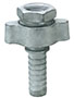 1 Inch (in) Size Plated Iron Ground Joint