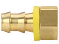 1/2 Inch (in) Hose Inner Diameter and 1/2 Inch (in) Pipe Thread size Brass Hose x Inverted Flare Grip-On Fitting (306-88)