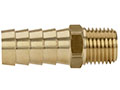 1/2 Inch (in) Hole Inner Diameter and 1/2 Inch (in) Pipe Thread Size Brass Male Hose End x NPT Shank