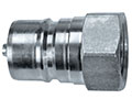 2.95 Inch (in) Overall Length Carbon Steel Type A Quick Connect Hydraulic Plug