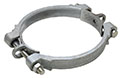 2 3/8 x 2 7/8 Inch (in) Hose Outer Diameter Zinc Plated Iron Double Bolt International Sized Hose Clamps