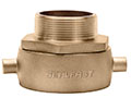 2 1/2 Inch (in) FNST x 2 1/2 Inch (in) MNPT Brass Swivel Adapters Pin Lug Adapter Fitting