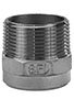 1 Inch (in) Size 316 Stainless Steel Hexagonal Welding Nipple Fitting